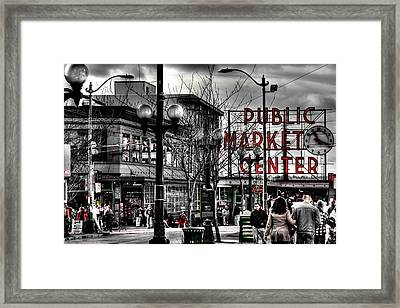 The Famous Pike Place Market - Seattle Washington Framed Print by David Patterson