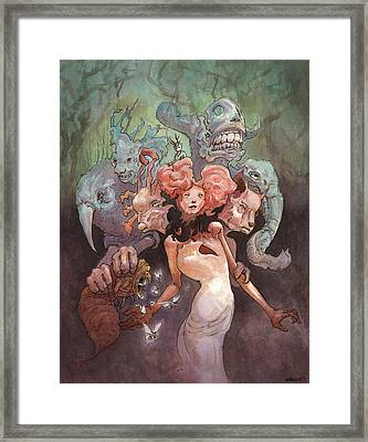 The Fanglehorn Troupe Framed Print by Ethan Harris