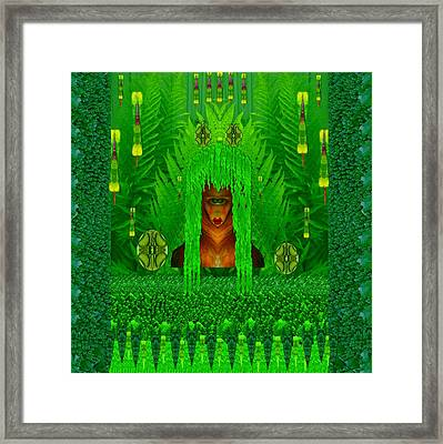 The Fantasy Girl In The Fauna  Framed Print