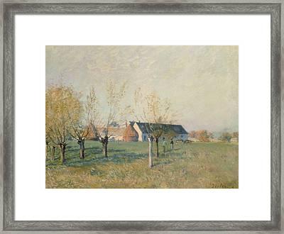 The Farm Framed Print by Alfred Sisley