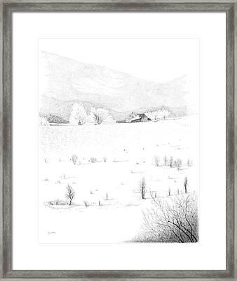The Farm Framed Print by Carl Genovese