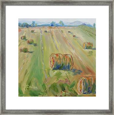 The Farm Framed Print by Josephine Hardison