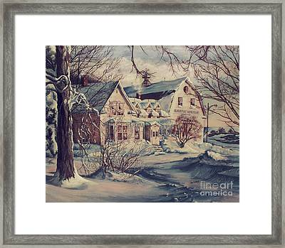 Framed Print featuring the painting The Farm by Joy Nichols