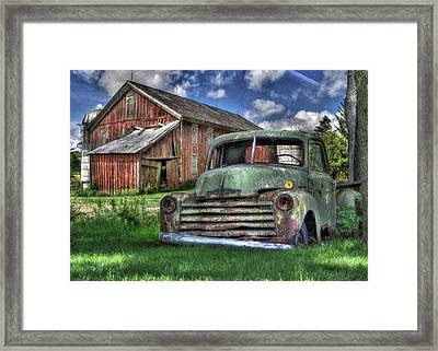 The Farm Truck Framed Print by Lori Deiter