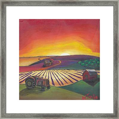 'the Farm' Framed Print