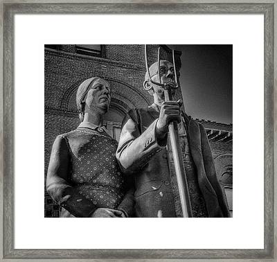 The Farmer And His Wife Framed Print