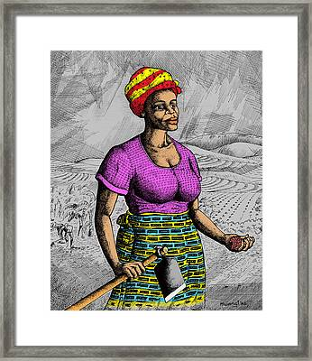 The Farmer Framed Print by Anthony Mwangi