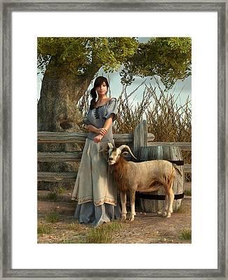 The Farmer's Daughter Framed Print by Daniel Eskridge