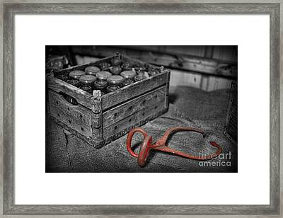 The Farmer's Milk Crate  Framed Print by Lee Dos Santos