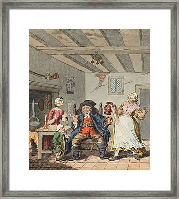 The Farmers Return, Illustration Framed Print by William Hogarth