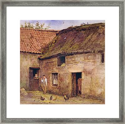 The Farmyard Framed Print by Helen Allingham