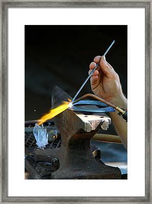 The Farrier Framed Print by Davandra Cribbie