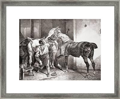 The Farrier, From Etudes De Cheveaux Framed Print