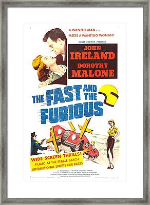 The Fast And The Furious, Us Poster Framed Print by Everett