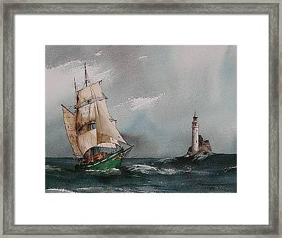 The Fastnet Lighthouse West Cork Framed Print