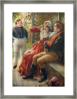 The Fat Boy, Illustration For Character Sketches From Dickens Compiled By B.w. Matz, 1924 Colour Framed Print by Harold Copping