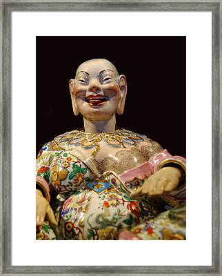 The Fat Lady Oriental Art Framed Print by Linda Phelps