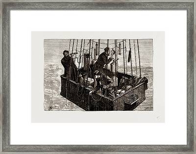 The Fatal Balloon Accident In France, Car Of The Zenith Framed Print