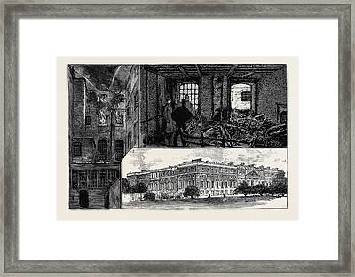 The Fatal Fire At Hampton Court Palace 1 Framed Print