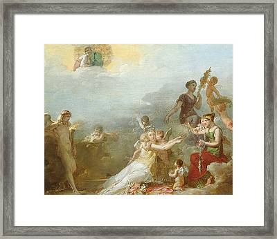The Fates Framed Print by Jean Baptiste Mallet