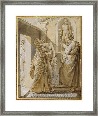 The Father Of Psyche Consulting The Oracle Of Apollo Baron Framed Print by Litz Collection