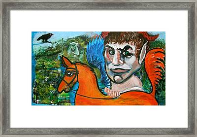 The Faun Framed Print by Dan Koon