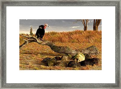 The Feast Of Cannibals  Framed Print by Daniel Eskridge