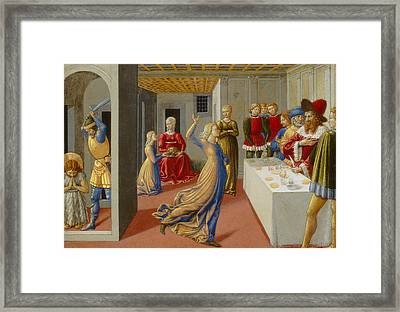 The Feast Of Herod And The Beheading Of Saint John The Baptist Framed Print by Benozzo di Lese di Sandro Gozzoli