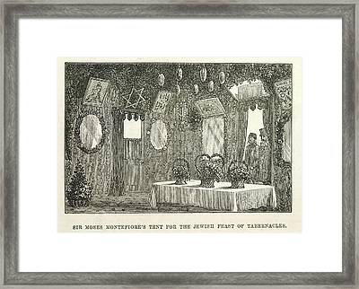 The Feast Of Tabernacles Framed Print by British Library