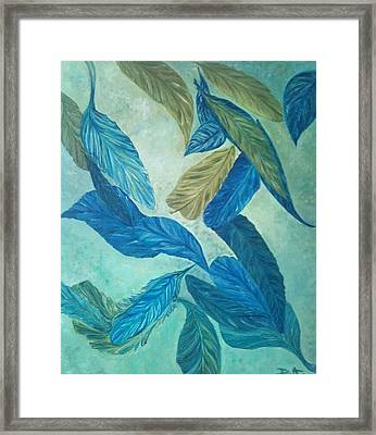 The Feather-leaf Morph Framed Print by Derya  Aktas