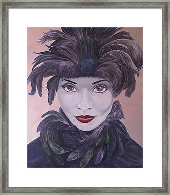 The Feathered Lady Framed Print by Leonard Filgate