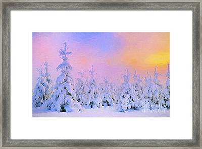 The February Sun Framed Print