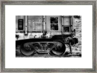 The Feet Of Transportation Framed Print by Skip Willits