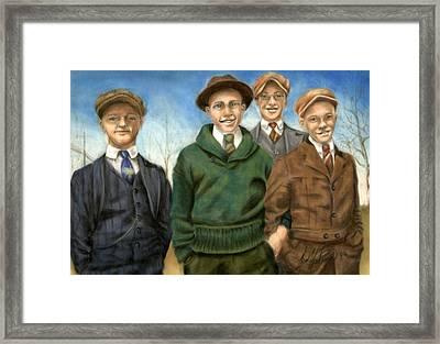 The Fellas Framed Print by Leah Wiedemer
