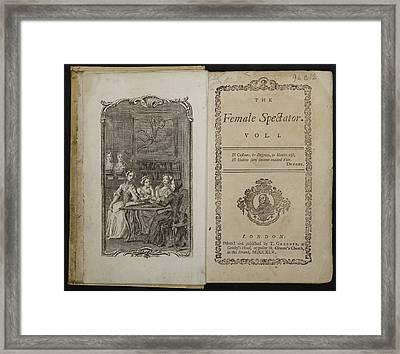 The Female Spectator Framed Print