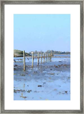 The Fence At Sea Framed Print by Tommytechno Sweden