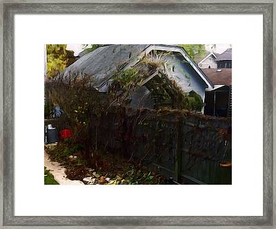 The Fence Framed Print by David Blank