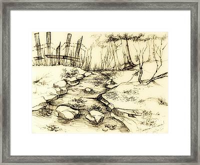 The Fence-original Framed Print