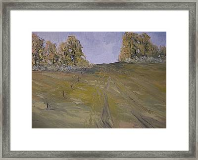The Fence Row Framed Print