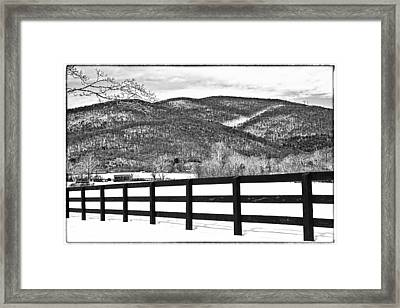 The Fenceline B W Framed Print