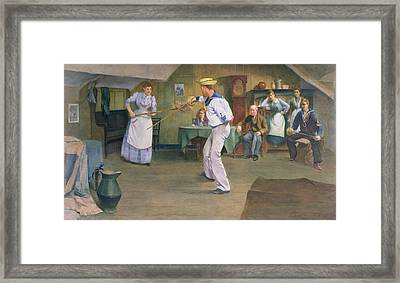 The Fencing Lesson Framed Print