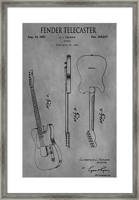 The Fender Telecaster Framed Print by Dan Sproul