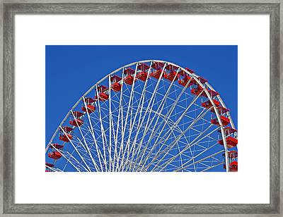 The Ferris Wheel Chicago Framed Print by Christine Till