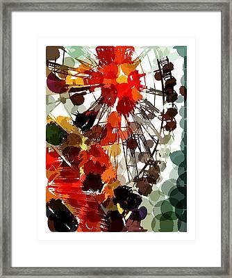 The Ferris Wheel Framed Print by Mark Compton