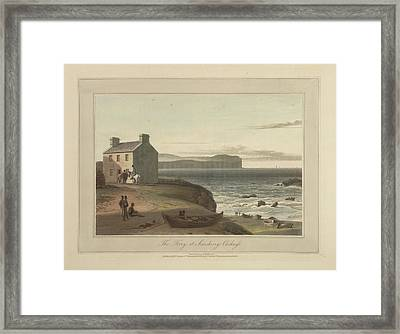 The Ferry At Scarskerry On Caithness Framed Print by British Library