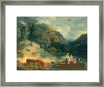 The Ferry Framed Print by Francis Wheatley