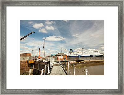 The Ferry Terminal In Hull Framed Print by Ashley Cooper