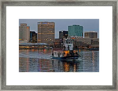 The Ferry To Portsmouth Framed Print by Jerry Gammon