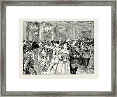 The Festivities At Athens In Honour Of The Greek Royal Framed Print by Litz Collection