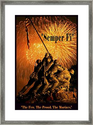 The Few The Proud The Marines Framed Print by Government Photographer